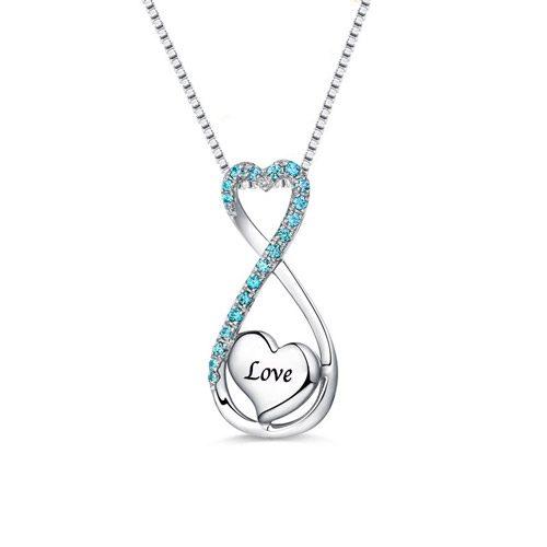 Collier prénom coeur infini love