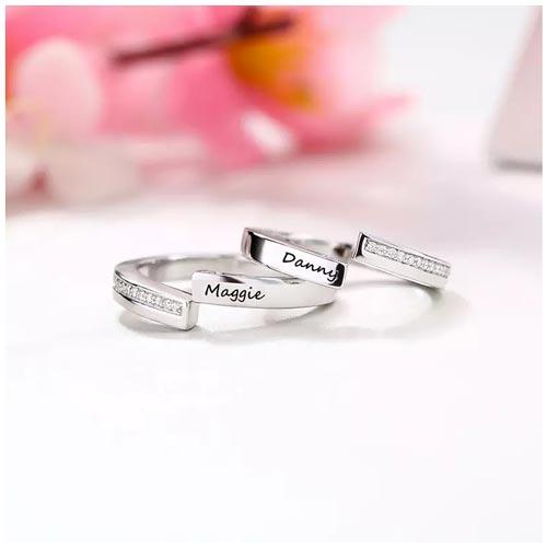 Bague couple personnalisée duo le cadeau idéal à offrir à bien aimée à l'occasion de la saint Valentin