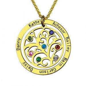 Collier arbre de vie personnalisé