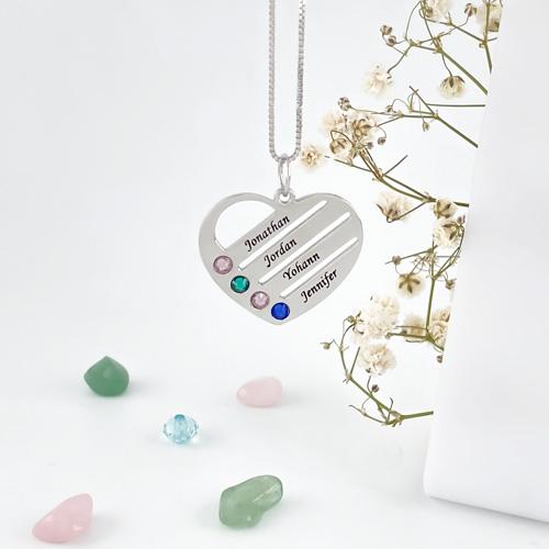 bijou personnalisé collier coeur à personnaliser fête des mères