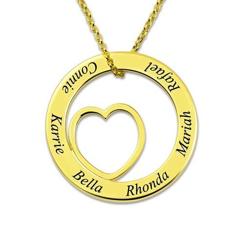 Collier famille à personnaliser en plaqué Or 18 carats le cadeau idéal à offrir votre maman ou grande mère pour leurs anniversaire ou les fêtes des mères