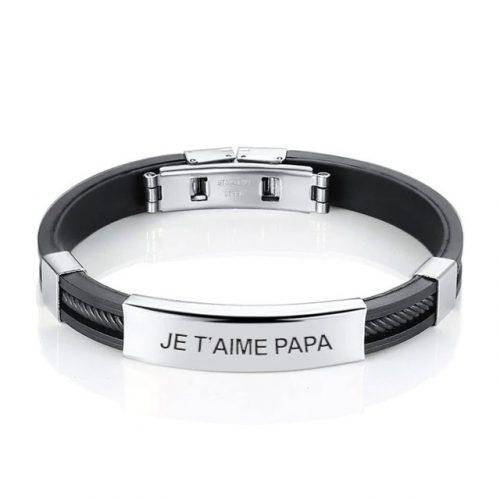 Bracelet homme personnalisé-acier inoxydable