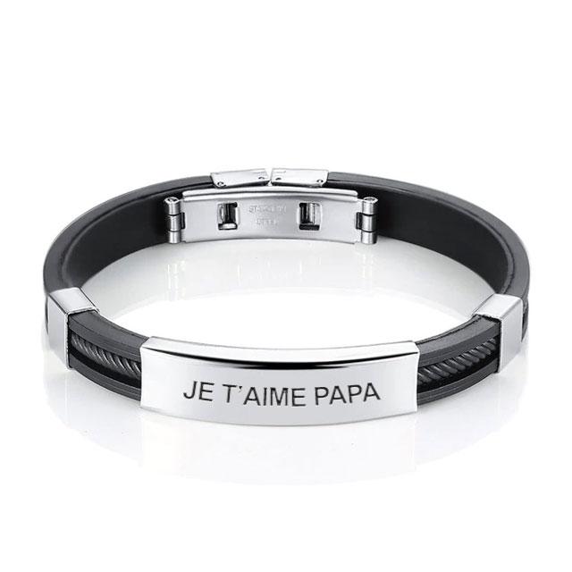 profiter de prix discount pas cher à vendre se connecter Bracelet homme personnalisé