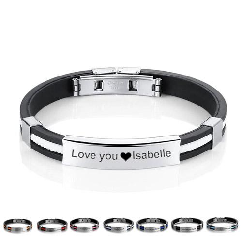 Bracelet homme personnalisé avec texte