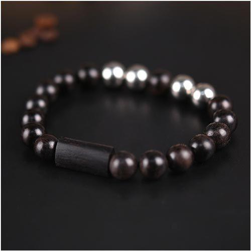 Bracelet zen en bois santal à personnaliser
