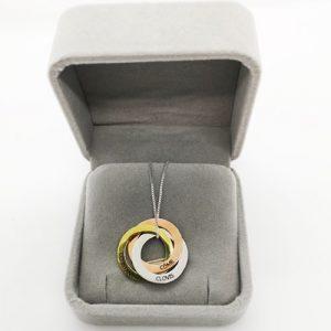 Collier 3 anneaux personnalisé