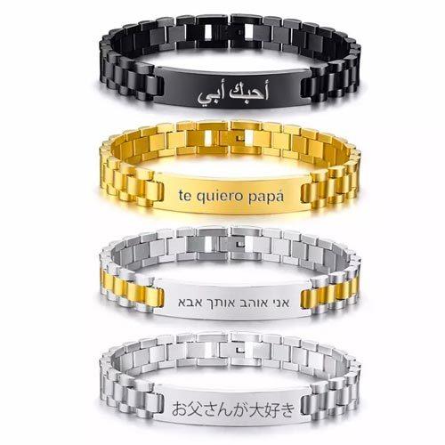 Bracelet homme personnalisé en acier inoxydable