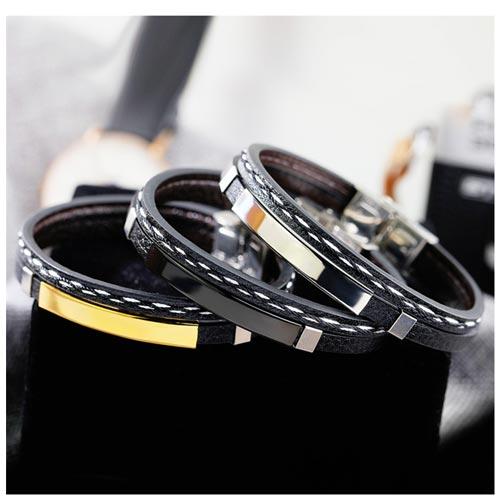 bracelet homme personnalisable de luxe idéal pour offrir à votre mari