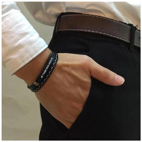 bracelet homme personnalisable le cadeau parfait pour la fête des pères