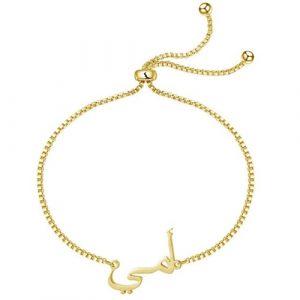 Bracelet prénom arabe personnalisé