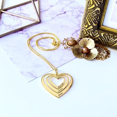 Collier coeur personnalisable cadeau personnalisé
