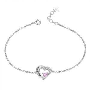 Bracelet coeur personnalisé prénom