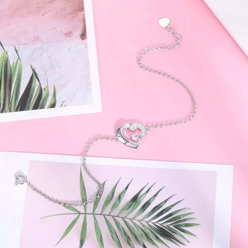 Bracelet coeur pierre de naissance