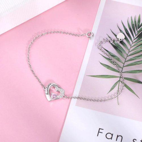 Bracelet coeur pour les amoureux bijou bracelet personnalisable avec prénom