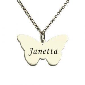 Collier papillon personnalisé prénom