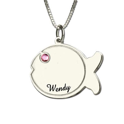 Collier personnalisé pendentif poisson le cadeau parfait a offrir à un enfant