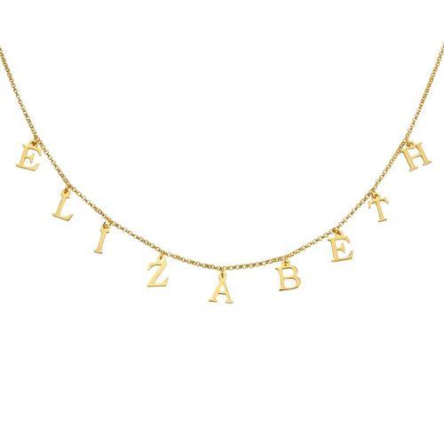 Collier prénom lettre personnalisé en plaqué Or que ce soit un achat pour soi ou un cadeau pour la femme de sa vie.