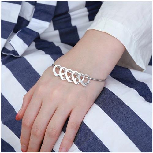 Bracelet jonc Femme Personnalisable en argent massif 925