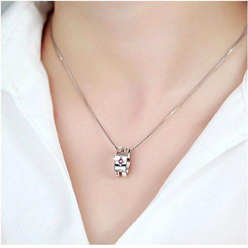 Collier anneau personnalisé bijou personnalisable pour femme