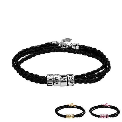Bracelet homme perles personnalisées le cadeau idéal pour votre marie