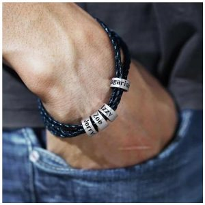 Bracelet homme perles personnalisées