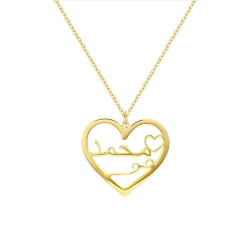 Cadeau personnalisé collier à gravé en arabe en plaqué Or 18 catas