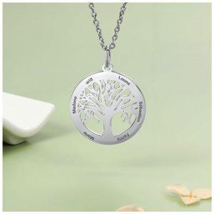 Collier prénom arbre de vie