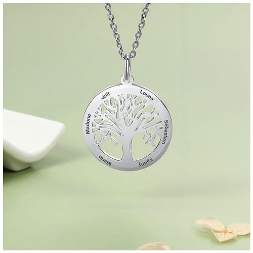 Collier prénom arbre de vie bijou de famille