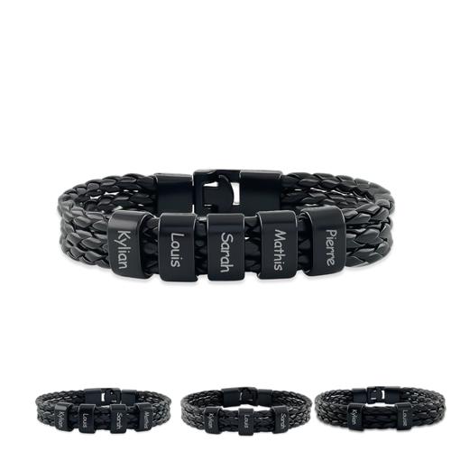 Bracelet homme personnalisé prénom bracelet à personnaliser de 1 à 5 inscriptions