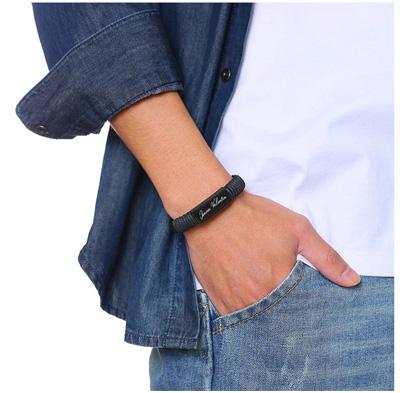 Bracelet homme avec message personnalisé cadeau personnalisé