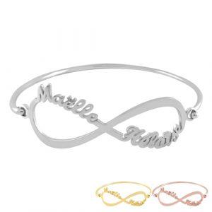 Bracelet infini personnalisable