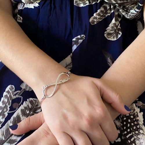 bracelet jonc infini personnalisable en argent 925