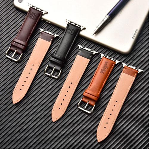 Bracelet apple watch en cuir personnalisé avec prénom