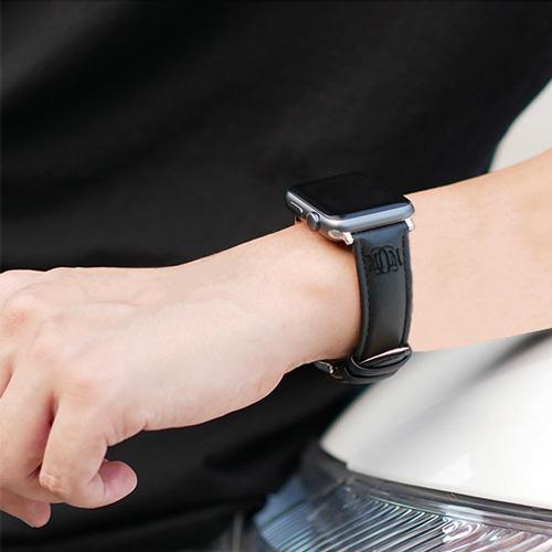 bracelet mixte apple watch personnalisable avec texte