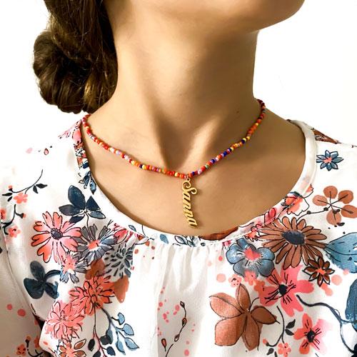 Collier avec prénom collier perles bijoux personnalisables