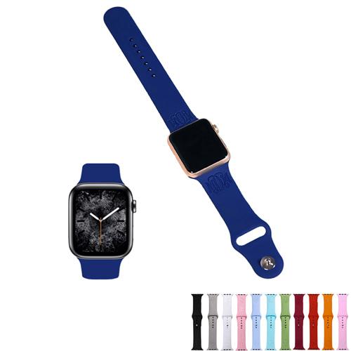 Bracelet apple watch personnalisé en silicone bracelet haute qualité