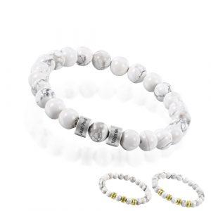 Bracelet personnalisé pierre d'Howlite
