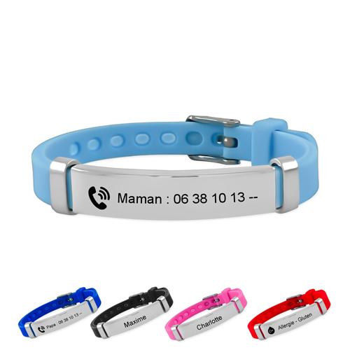 Bracelet SOS identification pour enfant identité et sécurité