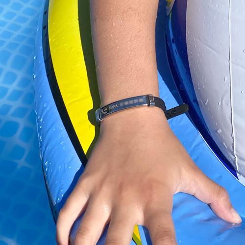 Bracelet SOS identification pour enfant waterproof