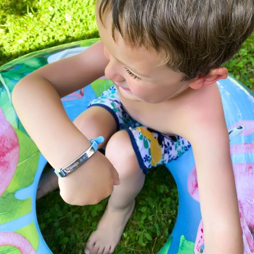 Bracelet sécurité pour enfant à graver