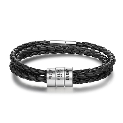 Bracelet pour homme personnalisé en acier inoxydable