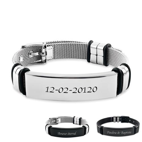 Bracelet gravé personnalisé