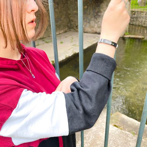 Bracelet gravé personnalisé mixte