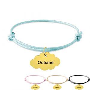 Bracelet nuage personnalisé