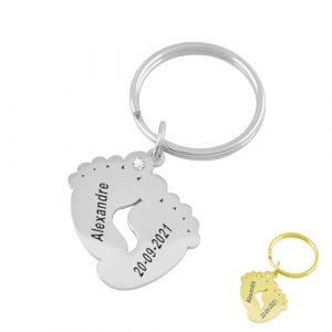 Porte-clés cadeau de naissance